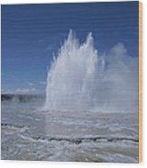 Great Fountain Geyser Seen Wood Print