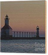 Great Lake Lighthouse Wood Print