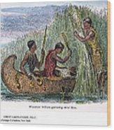 Great Lakes: Canoe, 19th C Wood Print