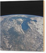 Great Lakes From Space Wood Print