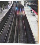 Great Neck Train Station Wood Print by Stephen Walker
