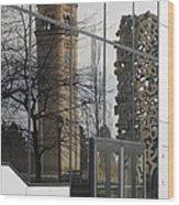 Great Northern Clocktower Reflection - Spokane Washington Wood Print