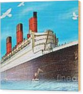 Great Ocean Liner Wood Print