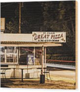 Great Pizza Wood Print