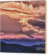 Great Sand Dunes Ascention Wood Print