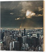 Great Skies Over Manhattan Wood Print by Hannes Cmarits