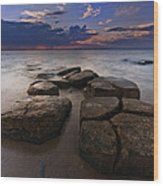 Great South Bay Sunset Wood Print