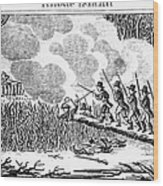 Great Swamp Fight, 1675 Wood Print