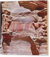 Great Wall Of Petra Jordan Wood Print by Eva Kaufman