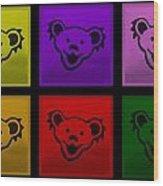 Greatful Dead Dancing Bears In Multi Colors Wood Print