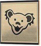 Greatful Dead Dancing Bears In Sepia Wood Print
