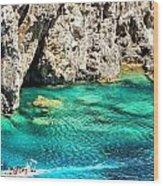 Greece Corfu Island Wood Print