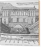 Greece: Theater Of Segesta Wood Print