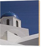 Greek Architecture, Santorini, Greece Wood Print
