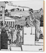 Greek Assembly Wood Print