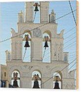 Greek Church Bells Wood Print