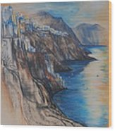 Greek Coast Wood Print