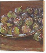 Greek Figs Wood Print by Ylli Haruni