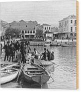 Greek Immigrants Fleeing Patras Greece - America Bound - C 1910 Wood Print