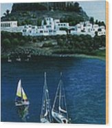 Greek Isles - Rodos Wood Print