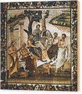Greek Philosophers Wood Print