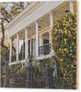 Greek Revival And The Tiny Pink Shoe - Garden District New Orleans Wood Print
