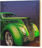 Green 37 Ford Hot Rod Decked Out For A Tropical Saint Patrick Day In South Texas Wood Print