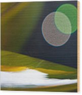 Green And Gold Abstract Wood Print by Dana Kern