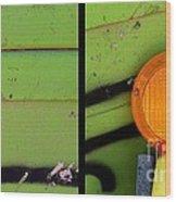 Green Bein' Wood Print