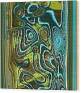 Green Blue II Wood Print