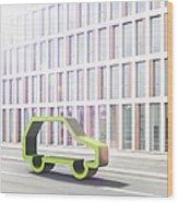 Green Car Wood Print