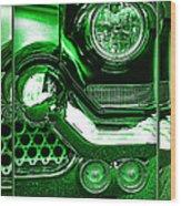 Green Chrome Wood Print