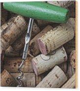 Green Corkscrew Wood Print by Garry Gay
