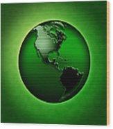 Green Earth Wood Print