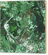 Green Eddy I Wood Print