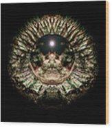 Green Eye Sphere Wood Print