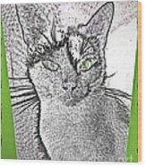Green Eyed Monster Wood Print