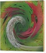 Green Funnel Wood Print