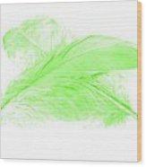 Green Ghost Wood Print