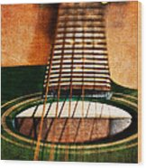 Green Gibson Wood Print