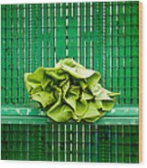 Green Greens Wood Print