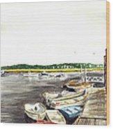 Green Harbor Wood Print