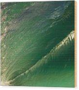 Green Hole Wood Print