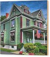Green House Wood Print
