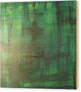 Green Meadow Wood Print by Derya  Aktas