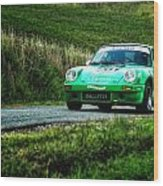 Green Porsche Wood Print
