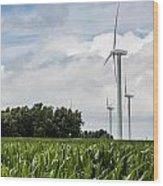 Green Power Wood Print