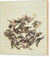Green Tea Leaves Wood Print