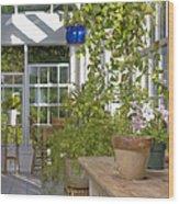 Greenery In A Garden Store Wood Print by Andersen Ross