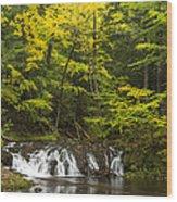 Greenstone Falls 4 Wood Print